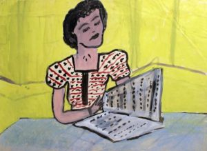 """Portrait of Miss Dunn"" by Lucy Menga. Photo courtesy of Children's Museum of the Arts Permanent Collection"