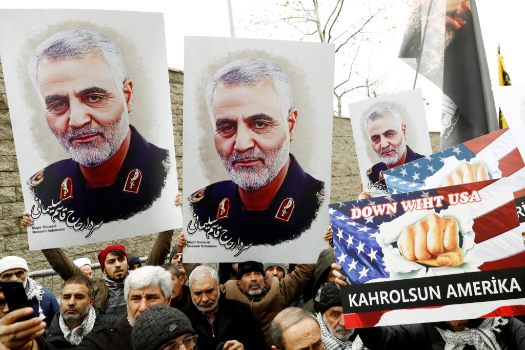 Thousands gather to pay homage to slain Iran general Soleimani in Tehran