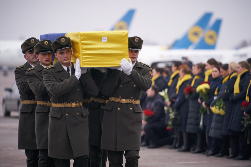 Bodies of 11 Ukrainians killed in Iran plane crash sent home