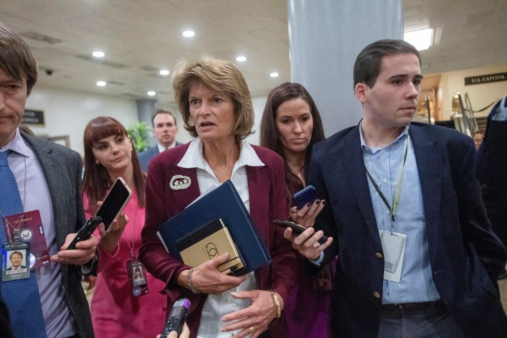 Sen. Lisa Murkowski (R-AK) departs theU.S Capitol following U.S. President Donald Trump's Senate impeachment trial in Washington, U.S., January 28, 2020. REUTERS/Amanda Voisard - RC2APE9E4OWR
