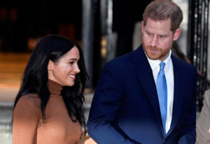 FILE PHOTO: Britain's Prince Harry and his wife Meghan, Duchess of Sussex, leave Canada House in London, Britain January 7, 2020. Photo by Toby Melville/Reuters
