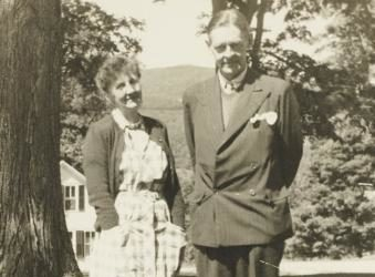 T.S. Eliot and Emily Hale in Dorset, Vermont during summer 1946. Photo from Princeton University Library