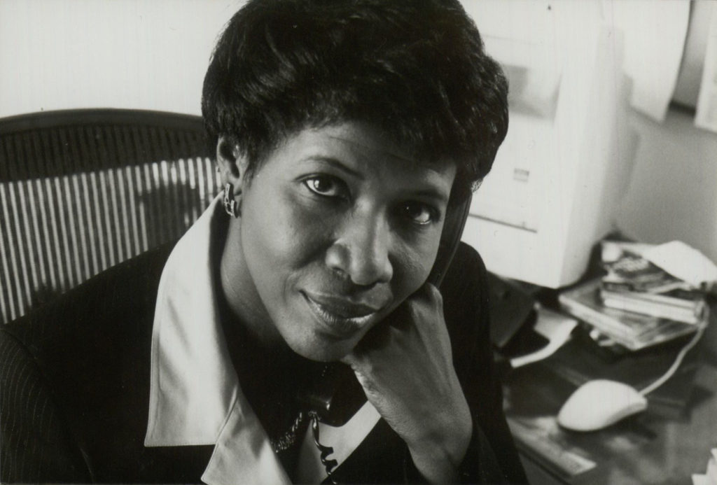 An archival photo of Gwen Ifill.