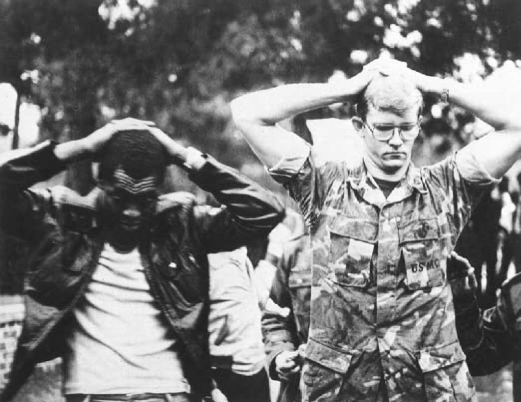 An image of two American hostages in the Iran hostage crisis, which led to the severing of diplomatic ties between the U.S. and Iran. Photo via Wikimedia Commons