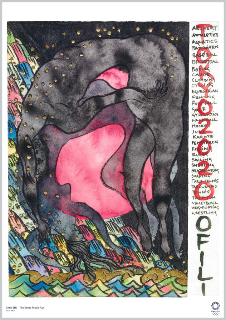 """The Games People Play"" by Chris Ofili. Image courtesy of The Tokyo Organising Committee of the Olympic and Paralympic Games"