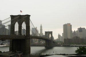 The Brooklyn Bridge can be seen in New York May 21, 2008. This year marks the 125th anniversary of the bridge being built over the East River linking Manhattan to Brooklyn. Photo by Lucas Jackson/Reuters