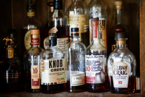 Bourbon whiskey is displayed at the World's End pub in London, Britain, June 22 2018. Photo by Henry Nicholls/Reuters