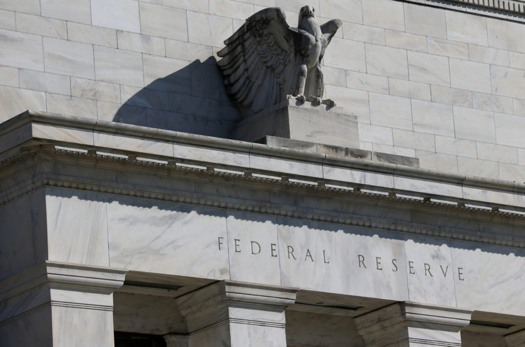 FILE PHOTO: Federal Reserve Board building on Constitution Avenue is pictured in Washington, U.S., March 19, 2019. Photo b...