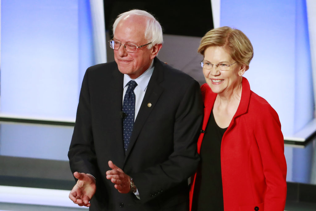 Democratic 2020 U.S. presidential candidates U.S. Senator Bernie Sa…