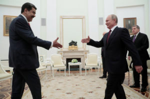 Russian President Vladimir Putin shakes hands with Venezuelan President Nicolas Maduro during a meeting at the Kremlin in Moscow, Russia September 25, 2019. Photo by Sergei Chirikov/Pool via REUTERS