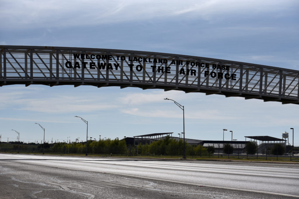 A bridge is seen at Joint Base San Antonio - Lackland in San Antoni…