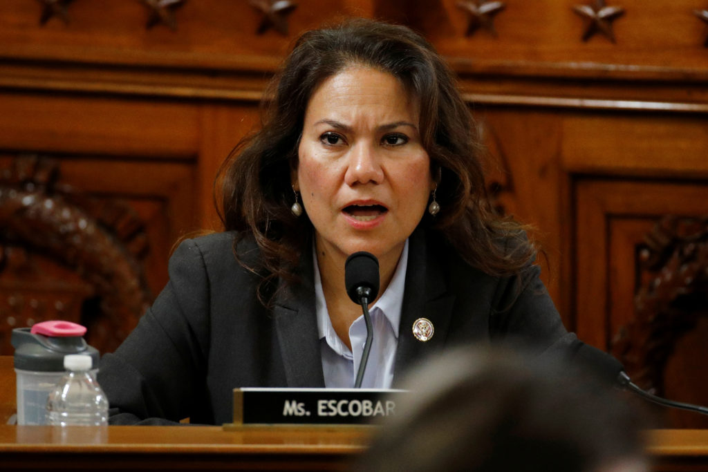 Rep. Veronica Escobar, D-Texas, votes no on the first article of impeachment against President Donald Trump on Capitol Hill, in Washington, U.S., December 13, 2019. Patrick Semansky/Pool via REUTERS