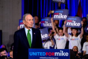 FILE: Michael Bloomberg, the billionaire media mogul and former New York City mayor, now Democratic candidate hosts a kick off 'United for Mike' at the Aventura Turnery Jewish Center and Tauber Academy Social in Miami, Florida, U.S., January 26, 2020. Photo by REUTERS/Maria Alejandra Cardona/File Photo