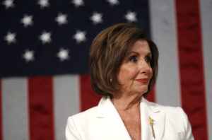 Speaker of the House Nancy Pelosi waits for U.S. President Donald Trump to arrive to deliver his State of the Union address to a joint session of the U.S. Congress in the House Chamber of the U.S. Capitol in Washington, February 4, 2020. Photo by Leah Millis/POOL via Reuters