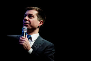 Pete Buttigieg, Democratic presidential candidate and former South Bend, Indiana mayor attends the NH Youth Climate and Clean Energy Town Hall in Concord, New Hampshire, U.S., February 5, 2020. Photo by Eric Thayer/Reuters
