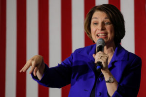 Democratic 2020 U.S. presidential candidate Senator Amy Klobuchar speaks during campaign event Manchester, New Hampshire, U.S., February 9, 2020. REUTERS/Brendan McDermid