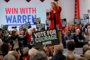 Democratic 2020 U.S. presidential candidate and U.S. Senator Elizabeth Warren (D-MA) speaks at a campaign town hall in Lebanon, New Hampshire, U.S., February 9, 2020. Photo by Brian Snyder/Reuters