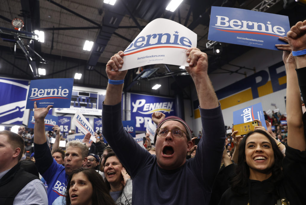 Supporters cheer as Democratic U.S. presidential candidate Senator …