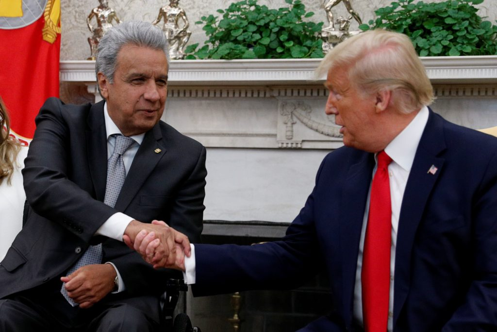 U.S., Ecuador talks at White House a first in nearly 2 decades