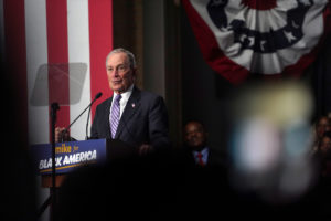 Democratic presidential candidate Michael Bloomberg attends a campaign event at Buffalo Soldiers national museum in Houston, Texas, February 13, 2020. Photo by Go Nakamura/Reuters