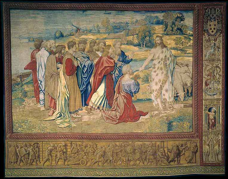 "Tapestry ""Christ's charge to Peter."" Photo courtesy of Governatorato SCV/Direzione dei Musei via Reuters"