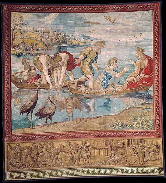 "Tapestry ""The miraculous draught of fishes."" Photo courtesy of Governatorato SCV/Direzione dei Musei via Reuters"