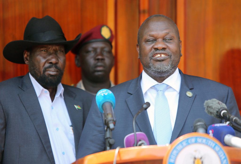 South Sudan's ex-vice President and former rebel leader Riek Machar…