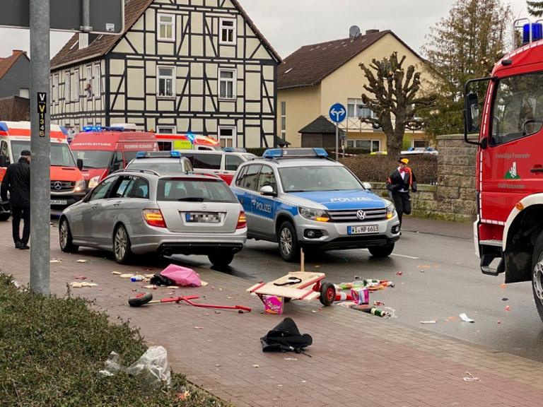 Car hits crowd at Carnival in German town, injuring dozens