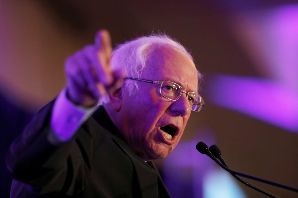 Democratic U.S. presidential candidate Senetor Bernie Sanders speak…