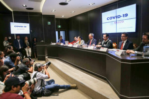 Hugo Lopez-Gatell Ramirez, Mexico's Undersecretary of Health Prevention and Promotion, holds a news conference on information about the new coronavirus, in Mexico City, Mexico February 27, 2020. Photo by Edgard Garrido/Reuters