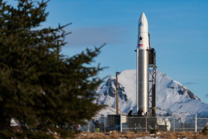 The company Astra, a startup based in Alameda, was set to launch their first payload Tuesday from the Pacific Spaceport Complex in Alaska, but the launch was delayed due to weather. Photo courtesy of DARPA