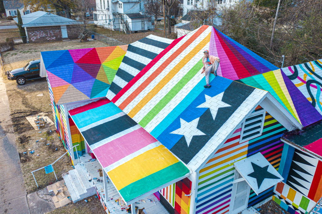 "An overhead view of ""Rainbow Embassy."" Photo courtesy of Ink and Movement"