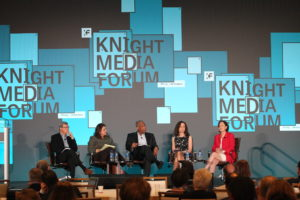 Panelists speak at the 2019 Knight Media Forum. Photo by Knight Foundation.