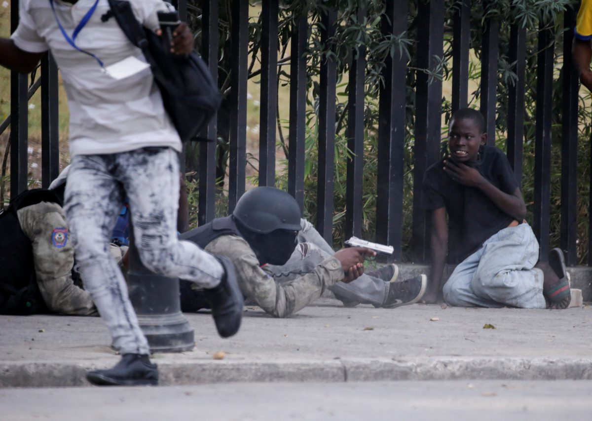 Haiti protests police explode in shooting