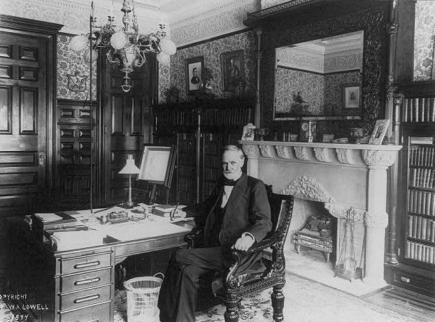 Sen. John Sherman, the author of the Sherman Act, in his office circa 1894. Photo by W.A. Lowell via Library of Congress/Wikimedia Commons