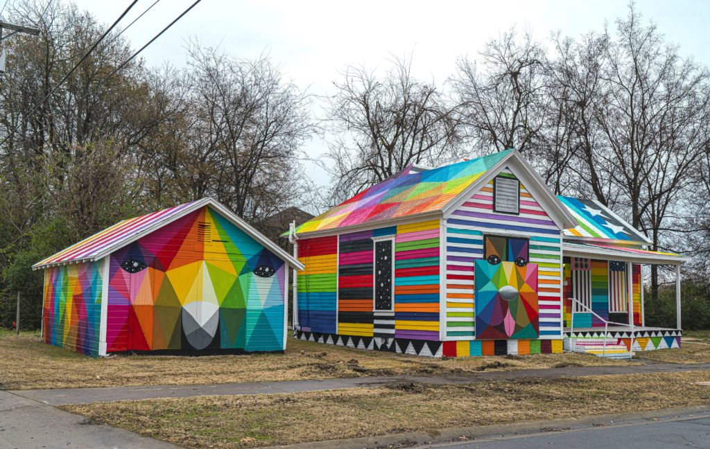 "A closer view of shed in ""Rainbow Embassy."" Photo courtesy of Justkids"
