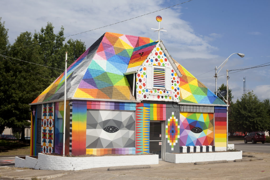 """Universal Chapel"" (2016) by Okuda San Miguel. Photo courtesy of Ink and Movement"