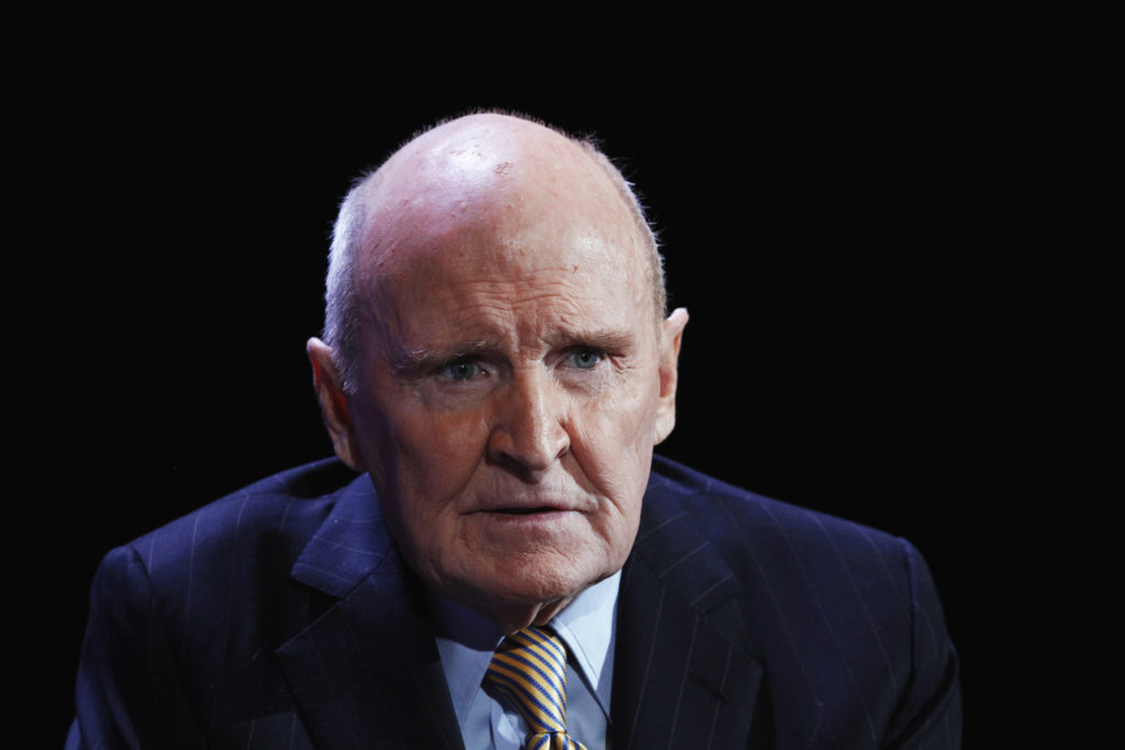 Former CEO of General Electric, Jack Welch, speaks during the World Business Forum in New York on October 5, 2010. Photo by Lucas Jackson/Reuters