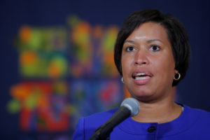"Washington D.C. Mayor Muriel Bowser speaks about the city's preparations for the white nationalist-led rally marking the one year anniversary of 2017 Charlottesville ""Unite the Right"" protests in Washington D.C., U.S., August 9, 2018. REUTERS/Brian Snyder"
