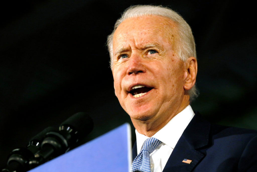 Democratic U.S. presidential candidate and former Vice President Joe Biden speaks at his South Carolina primary night rall...