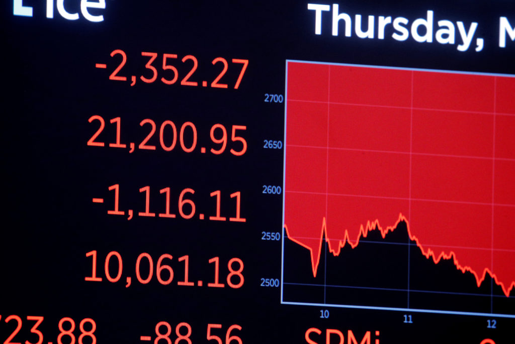 Worst day on Wall Street since 1987 as virus fears spread