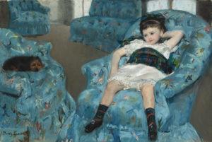 """Mary Cassatt's """"Little Girl in a Blue Armchair"""" (1878).Image courte…"""