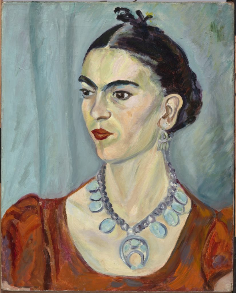 Magda Pach's portrait of artist Frida Kahlo (1933). Image courtesy of National Portrait Gallery.