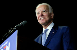 FILE PHOTO: Democratic U.S. presidential candidate and former Vice President Joe Biden speaks at his Super Tuesday night rally in Los Angeles, California, U.S., March 3, 2020. Photo by Elizabeth Frantz/Reuters.