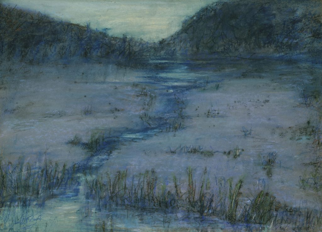 "Alice Pike Barney's ""Marshlands at Sundown"" (1908). Image courtesy of Smithsonian American Art Museum/Laura Dreyfus Barney and Natalie Clifford Barney."