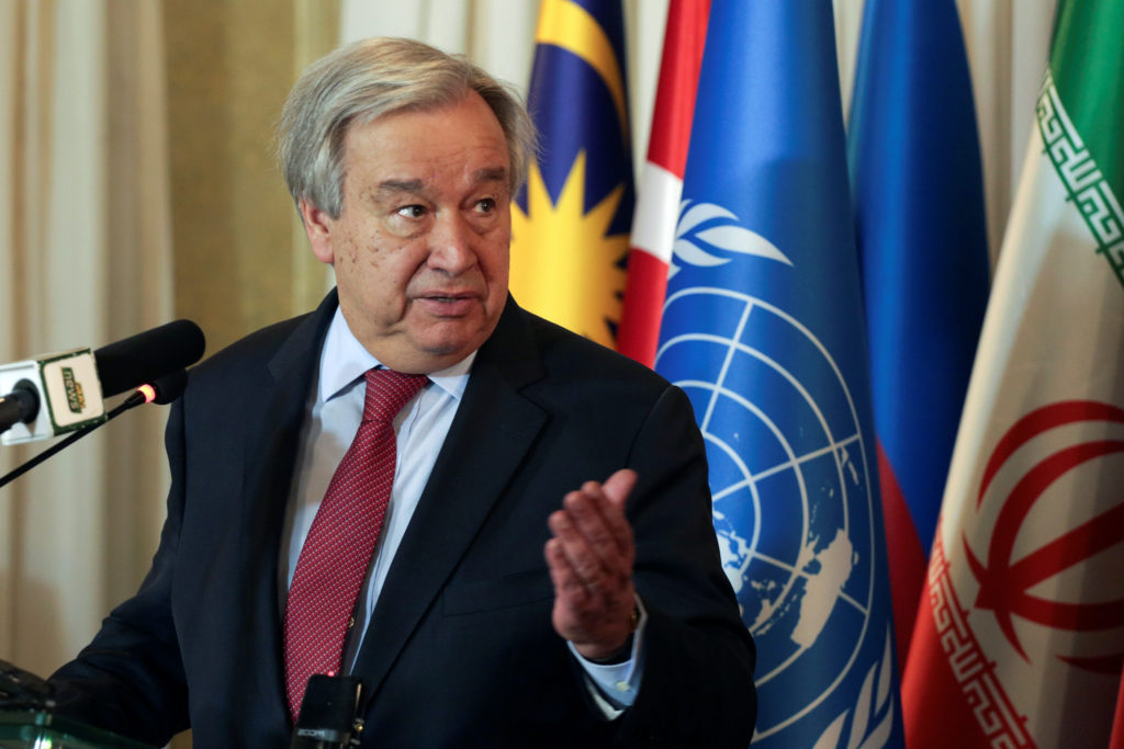 UN secretary-general decries lack of global cooperation to beat pandemic