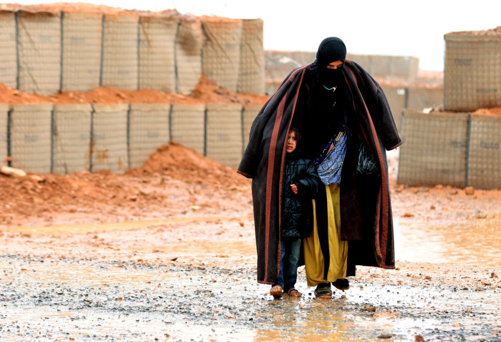 A Syrian refugee from the informal Rukban camp, which lies in no-man's-land off the border between Syria and Jordan in the...