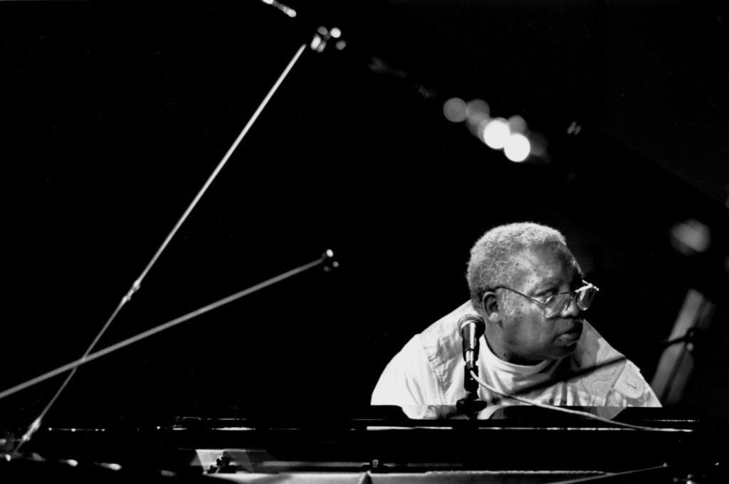 "Ellis Marsalis rehearsing for the ""Jazz Gipfel"" concert, Stuttgart, Germany, 1992. Photo by Bob Willoughby/MPTV"