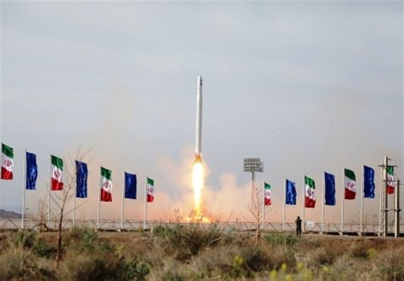A first military satellite named Noor is launched into orbit by Iran's Revolutionary Guards Corps in an undisclosed location, Iran, April 22, 2020. Photo by Tasnim News Agency/Handout via REUTERS