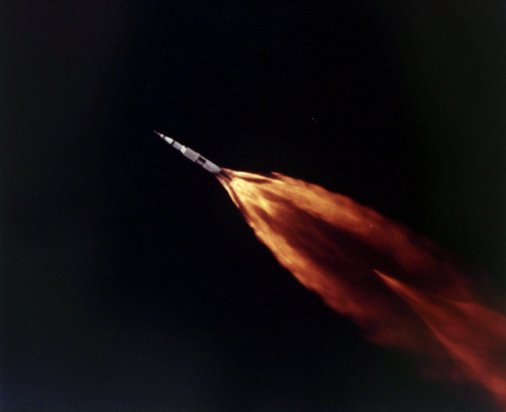 Space Exploration, pic: 11th April 1970, US spacecraft Apollo 13 blasts off from Cape Kennedy, U,S,A, Photo by Rolls Press/Popperfoto via Getty Images)